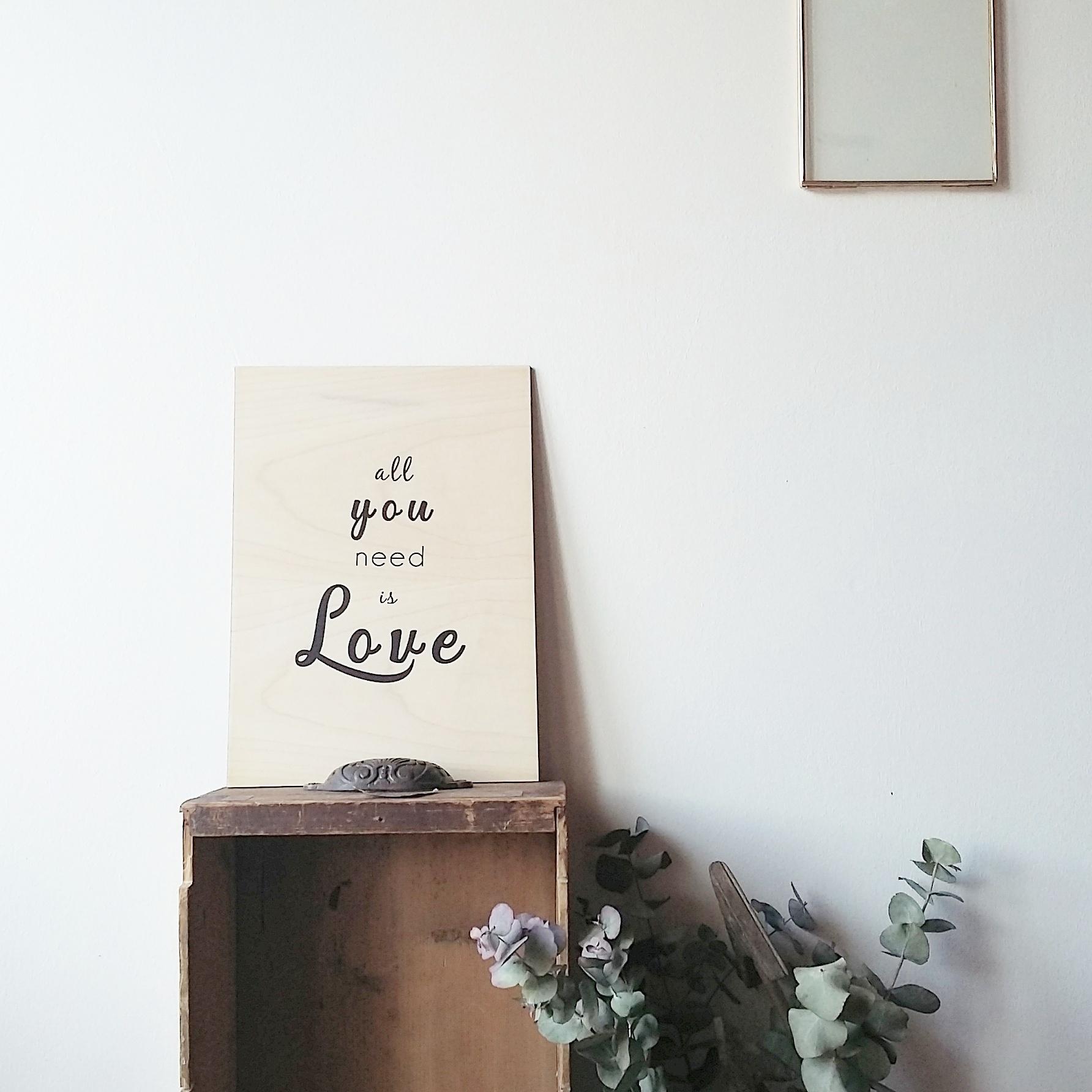 affiche en bois sérigraphiée